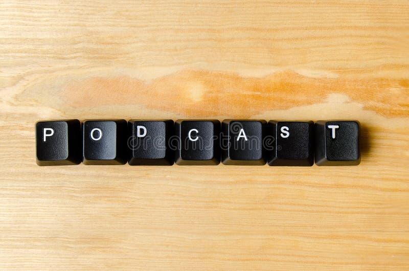 Podcastord arkivfoto