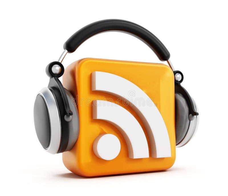 Podcastpictogram stock illustratie