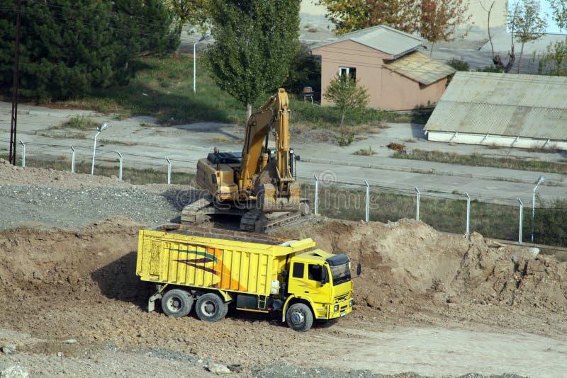 Podczas podkopowej pracy budowa w Ankara fotografia stock