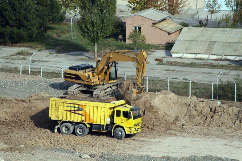 Podczas podkopowej pracy budowa w Ankara obraz royalty free