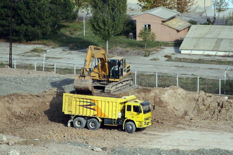 Podczas podkopowej pracy budowa w Ankara obraz stock
