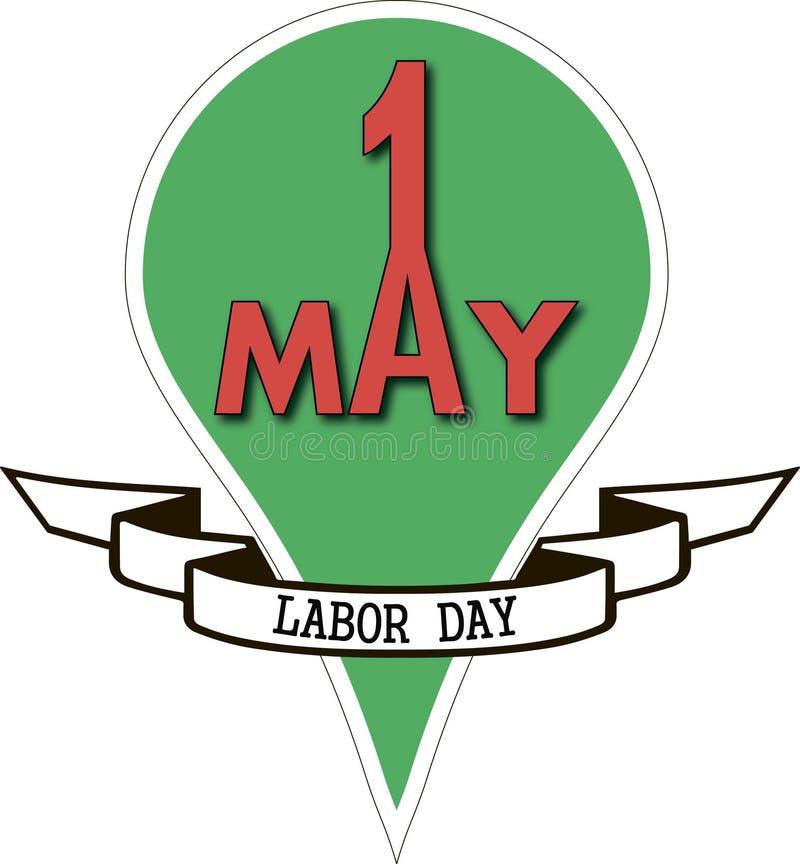 1 pode Dia do Trabalhador ilustração do vetor