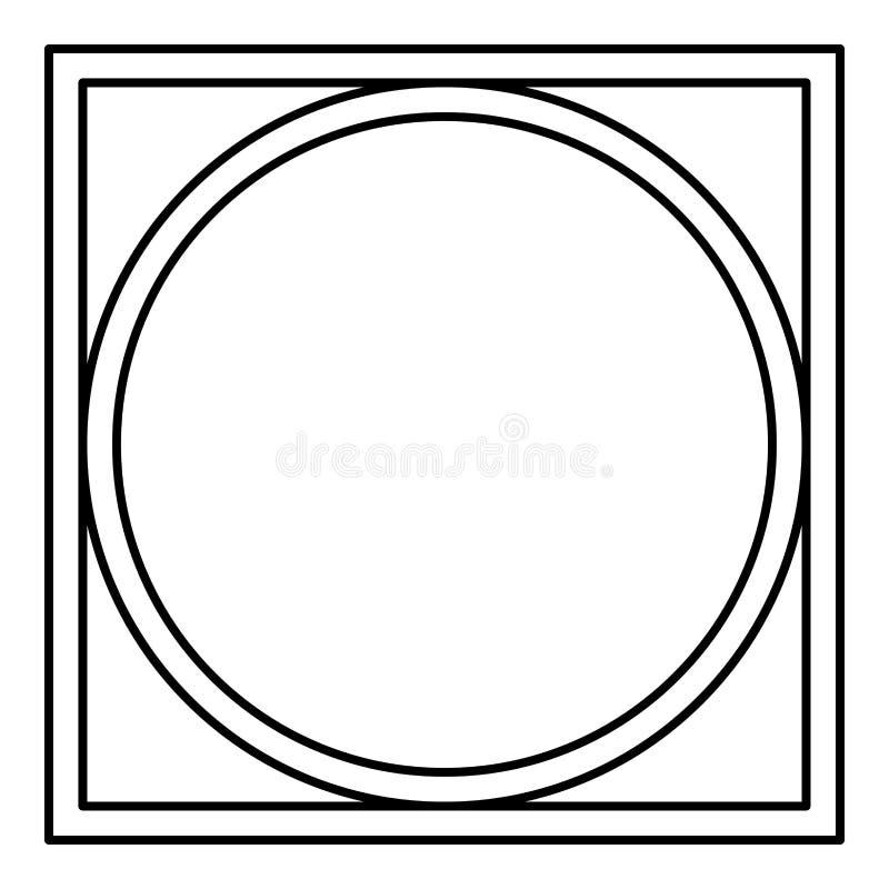 Pode girar espremeu seco na roupa da máquina de lavar importa-se símbolos lavar a cor preta do esboço do ícone do sinal da lavand ilustração royalty free