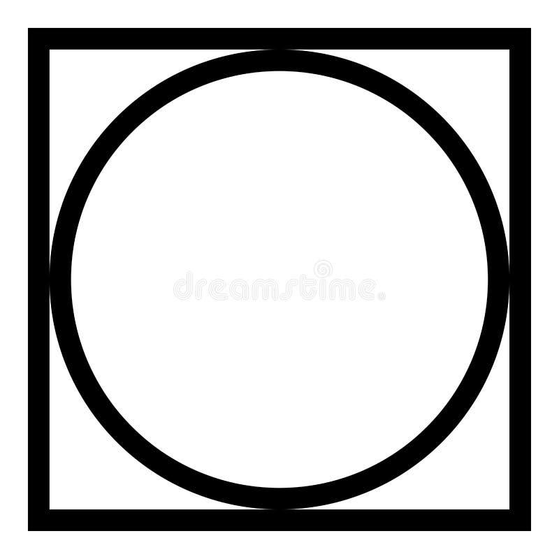 Pode girar espremeu seco na roupa da máquina de lavar importa-se símbolos lavar o vetor preto da cor do ícone do sinal da lavande ilustração royalty free