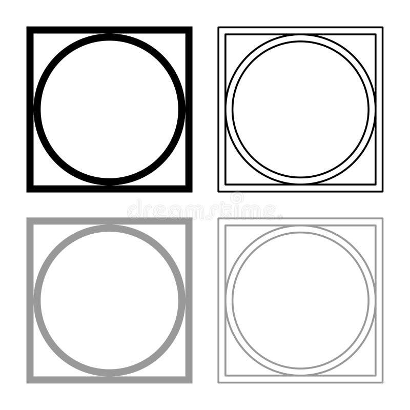 Pode girar espremeu seco na roupa da máquina de lavar importam-se símbolos o esboço do ícone que do sinal da lavanderia do concei ilustração do vetor