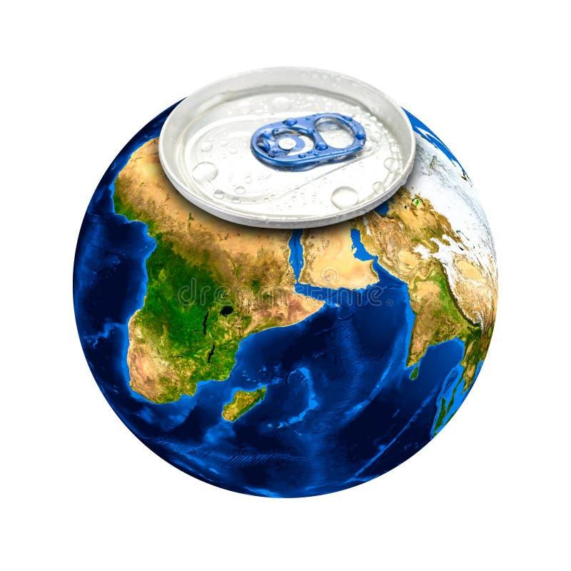 Pode ligar à terra o planeta ilustração do vetor