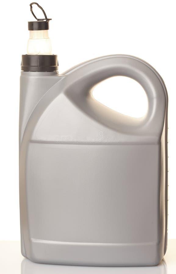 Pode o petróleo do motor de automóveis isolado no branco imagem de stock