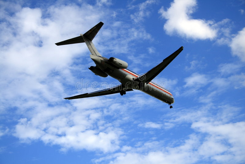 podejście do lądowania fotografia royalty free