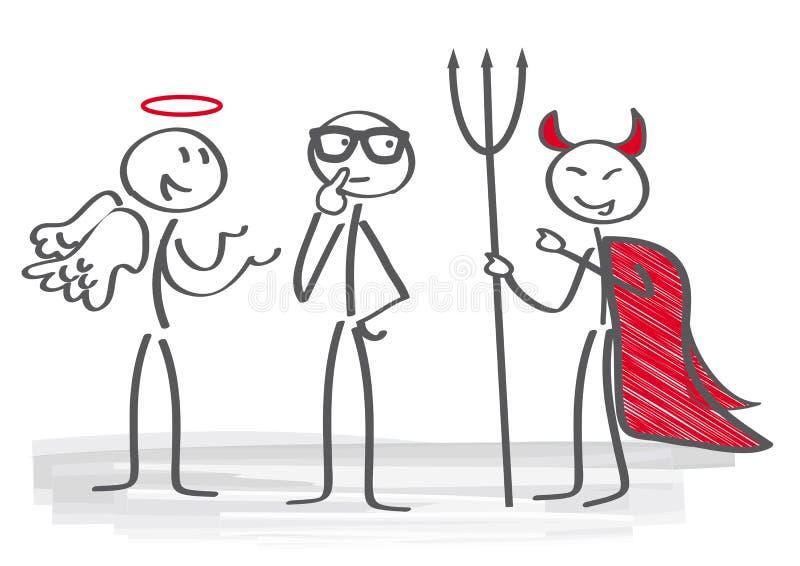 Podejmowanie decyzji ilustracja wektor