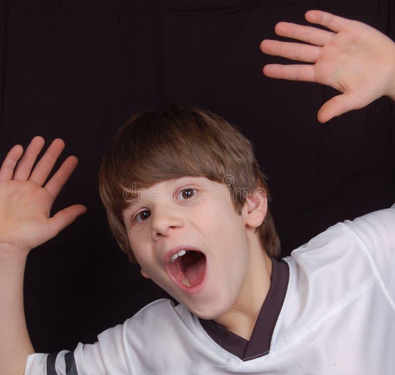 podekscytowany chłopcze obrazy stock