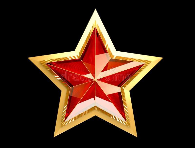 9 podem Dia da vitória Estrela vermelha 3d Fundo isolado fotografia de stock