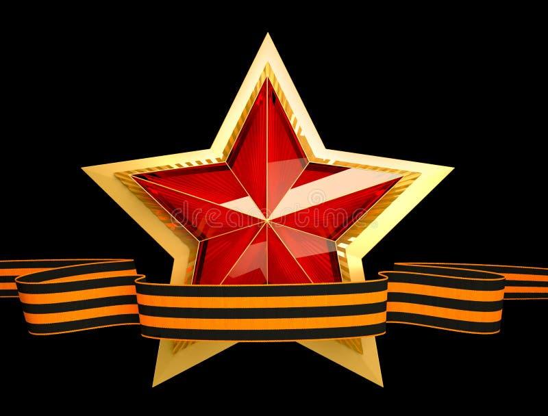 9 podem Dia da vitória Estrela vermelha 3d Fundo isolado fotos de stock royalty free