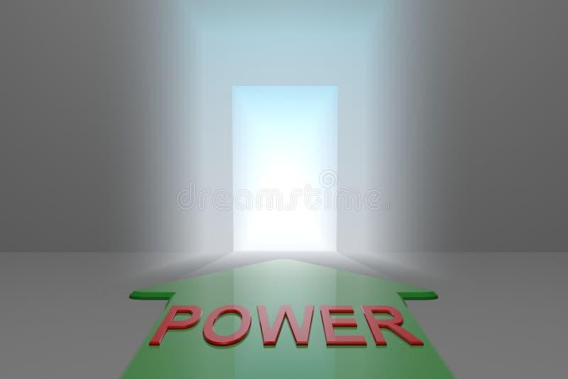 Poder à porta aberta ilustração royalty free
