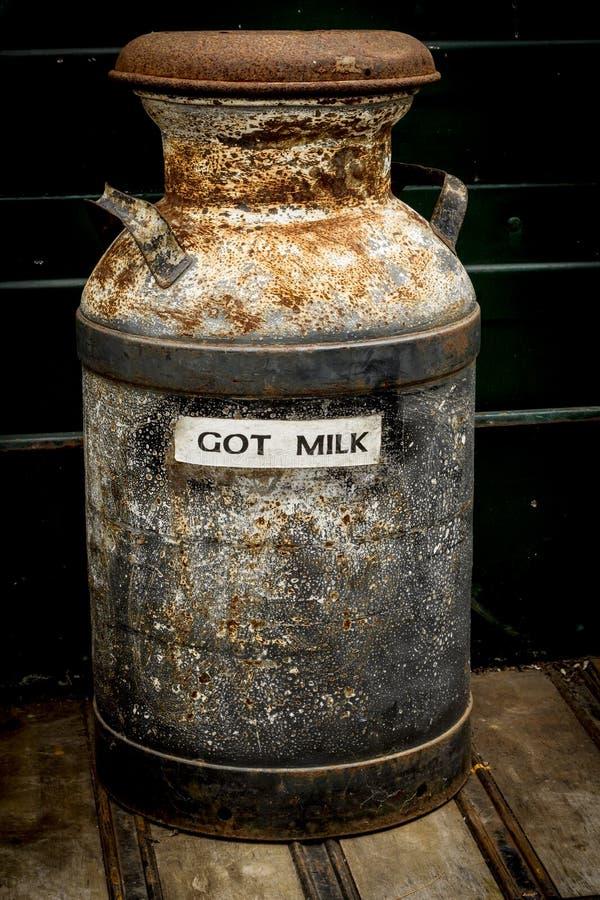 Poder antigua de la leche imágenes de archivo libres de regalías