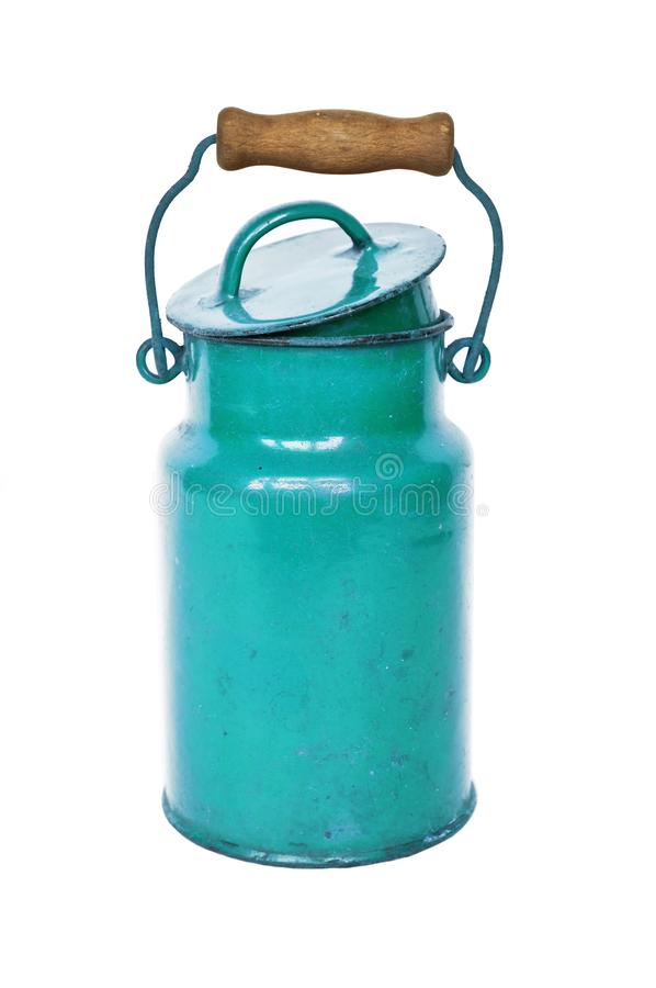 Poder azul antigua de la leche imagenes de archivo