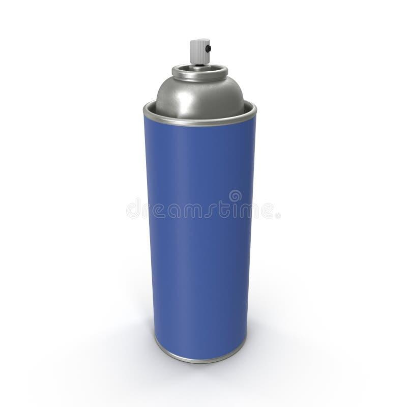 Poder azul de la botella del metal del espray de aerosol libre illustration