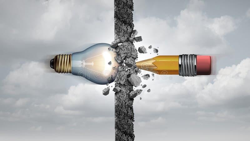 Poder criativo das ideias ilustração stock