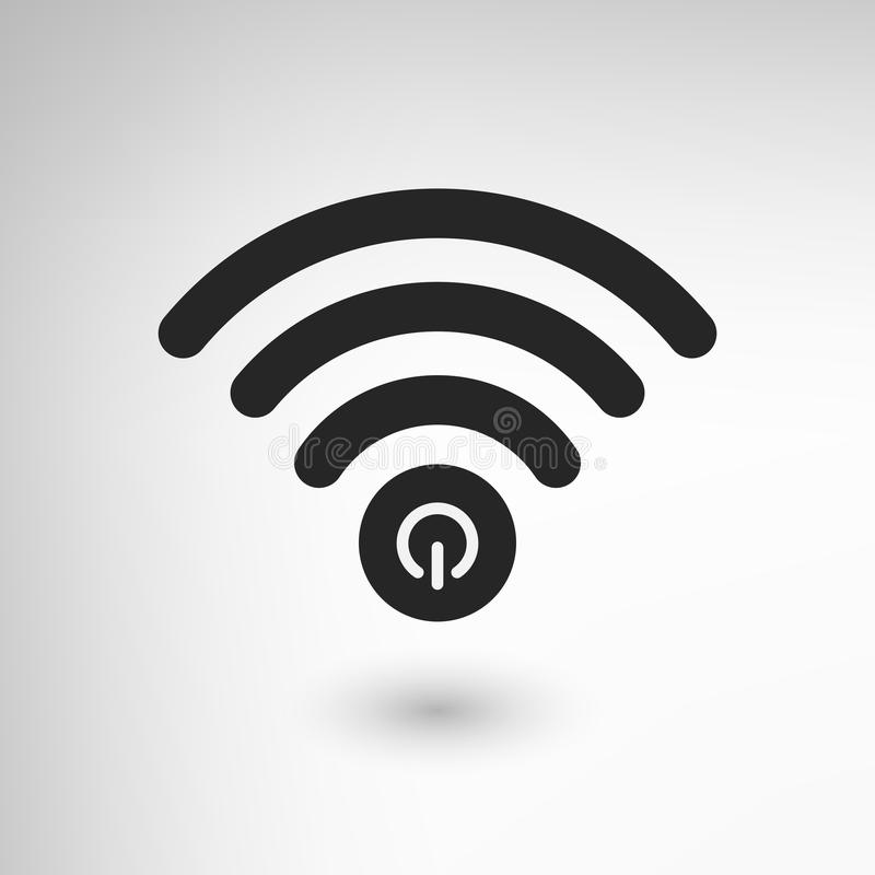Poder criativo de WiFi ilustração do vetor
