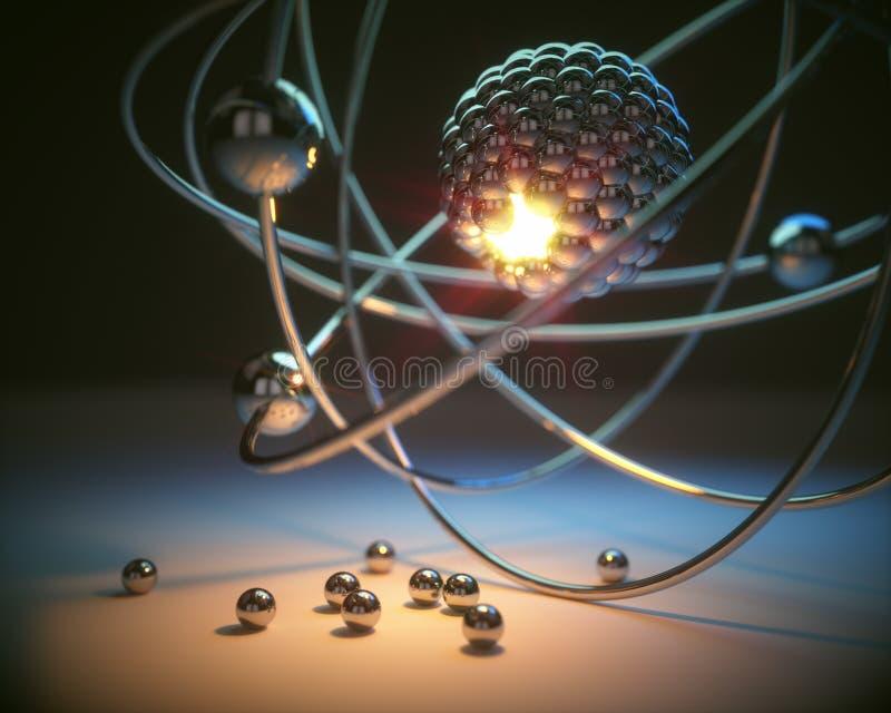 Poder da energia atômica foto de stock royalty free