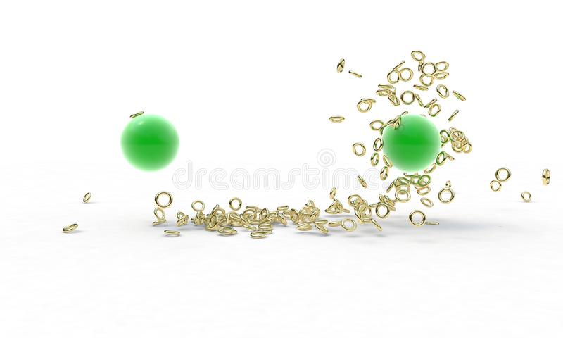 Poder da força gravitacional, 3d ilustração stock