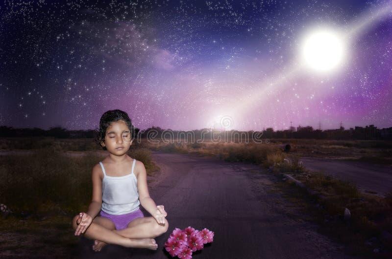 Poder da meditação imagens de stock