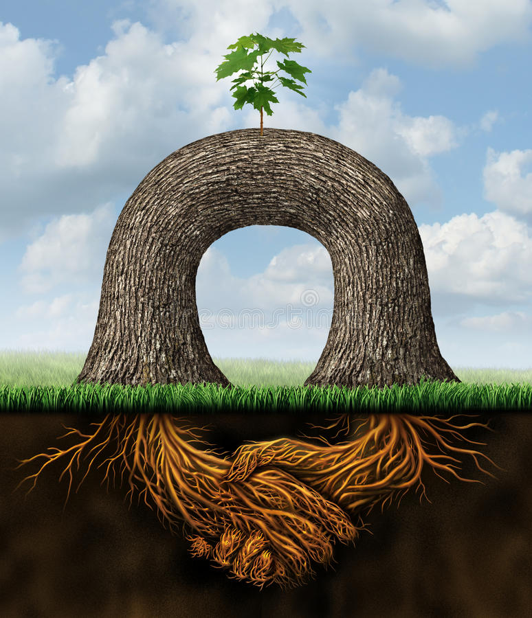 Poder da parceria ilustração stock