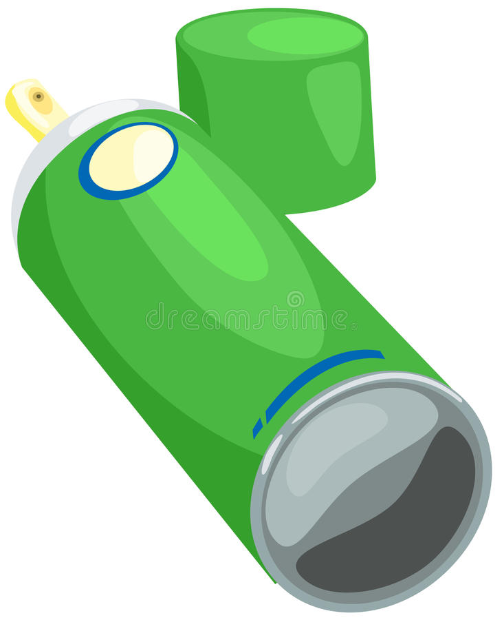 Poder de aerosol stock de ilustración