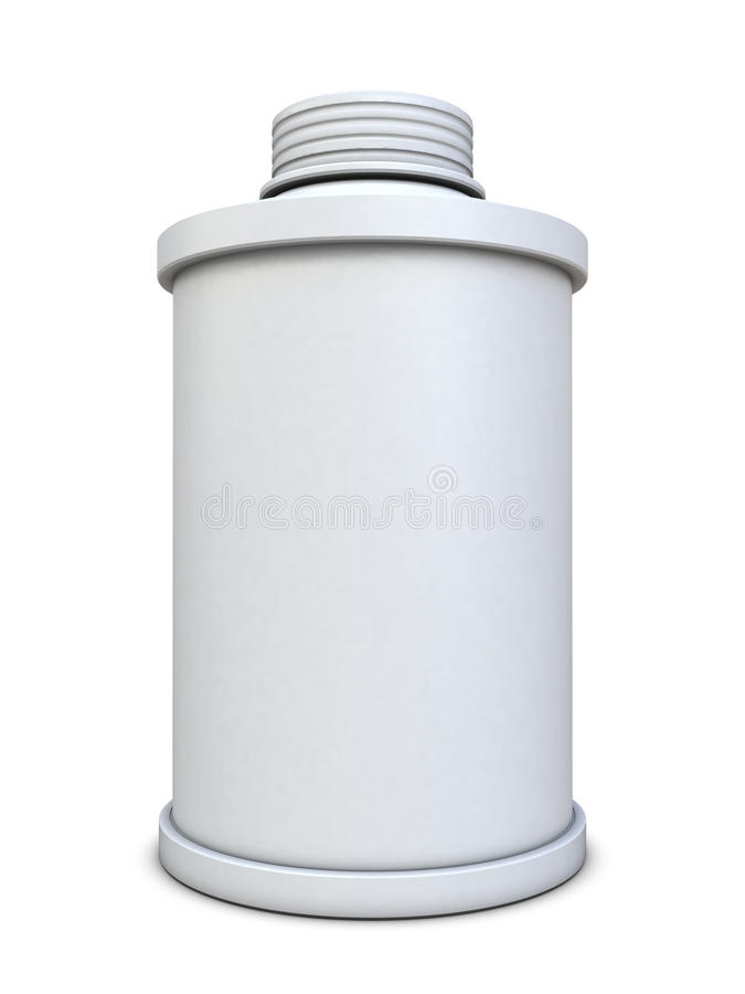 Poder de aerosol blanca libre illustration