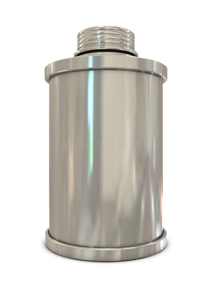 Poder de aerosol de plata stock de ilustración