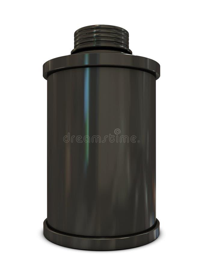 Poder de aerosol negra ilustración del vector
