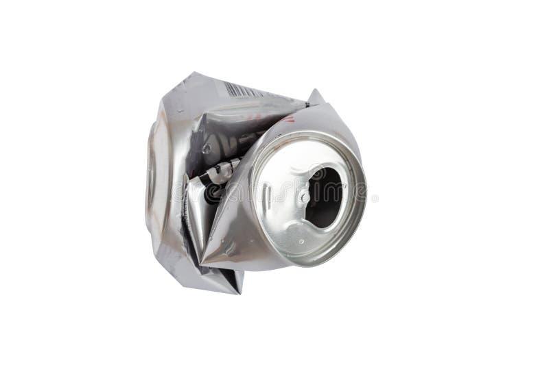 Poder de aluminio arrugada aislada en el fondo blanco fotografía de archivo libre de regalías