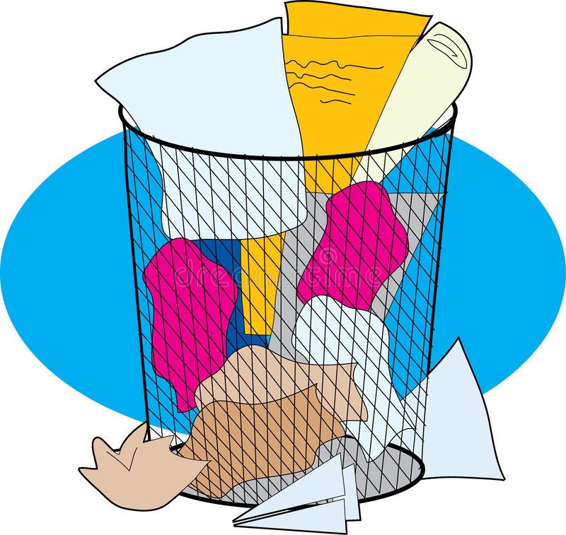 Poder de basura de la oficina ilustración del vector