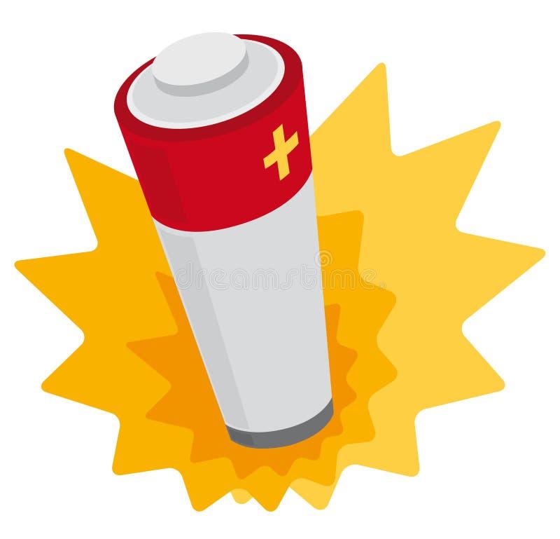 Poder de batería stock de ilustración