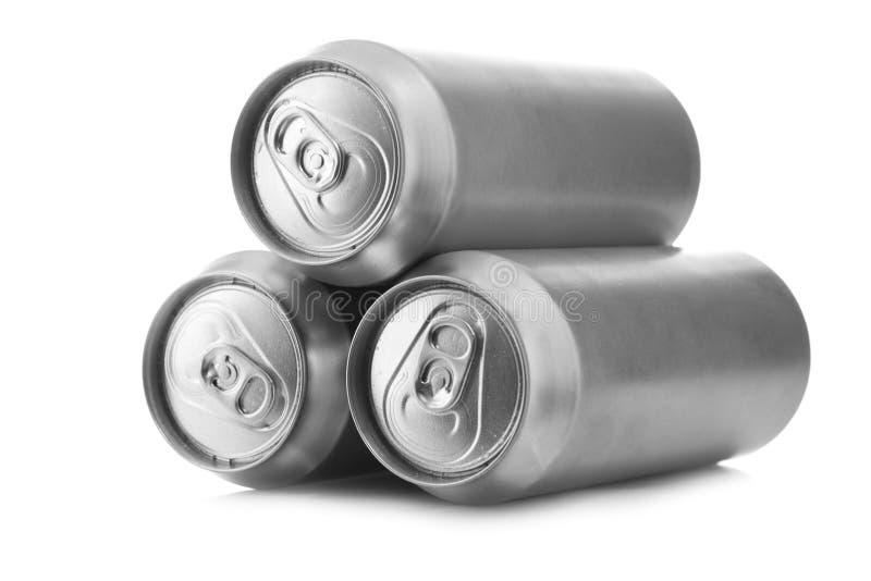 Poder de cerveza de aluminio fotos de archivo
