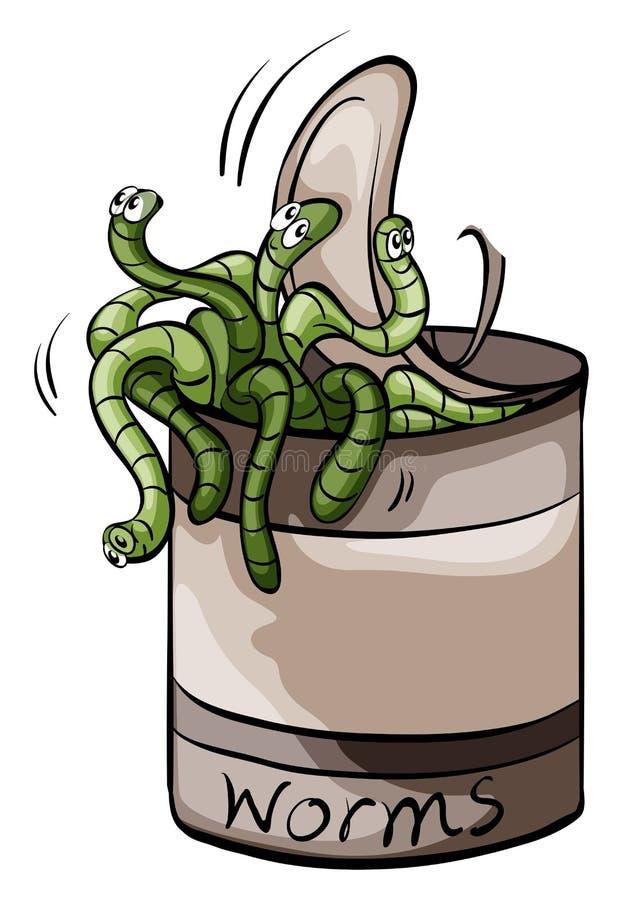 Poder de A de gusanos ilustración del vector