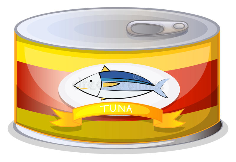 Poder de A del atún stock de ilustración