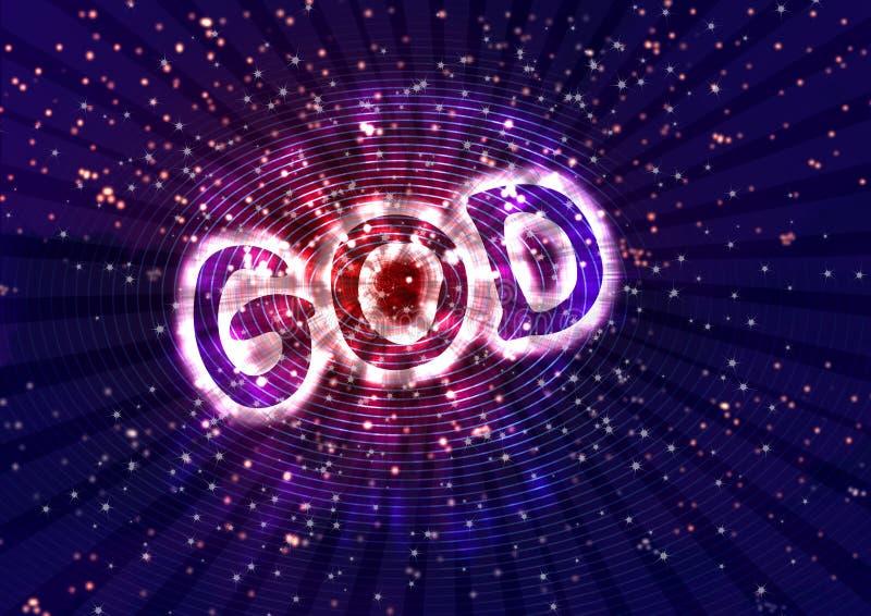 Poder de dios stock de ilustración