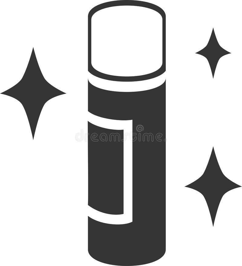 Poder de espray - deslumbre el brillo stock de ilustración