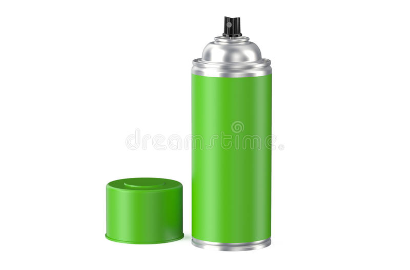 Poder de espray verde de aerosol libre illustration