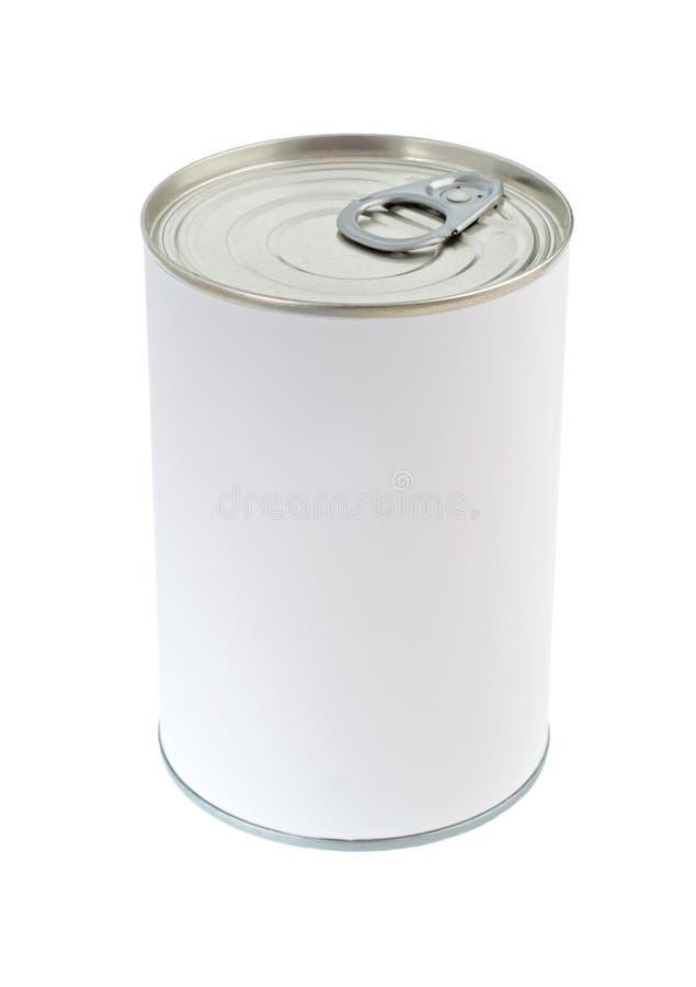 Poder de estaño en blanco del alimento fotos de archivo libres de regalías