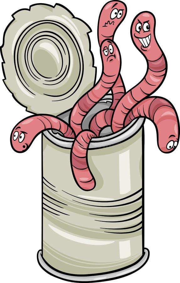 Poder de gusanos que dicen la historieta stock de ilustración