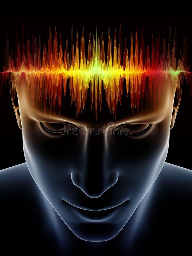 Poder de la mente humana stock de ilustración
