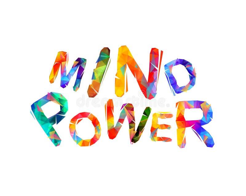 Poder de la mente Letras triangulares del vector ilustración del vector