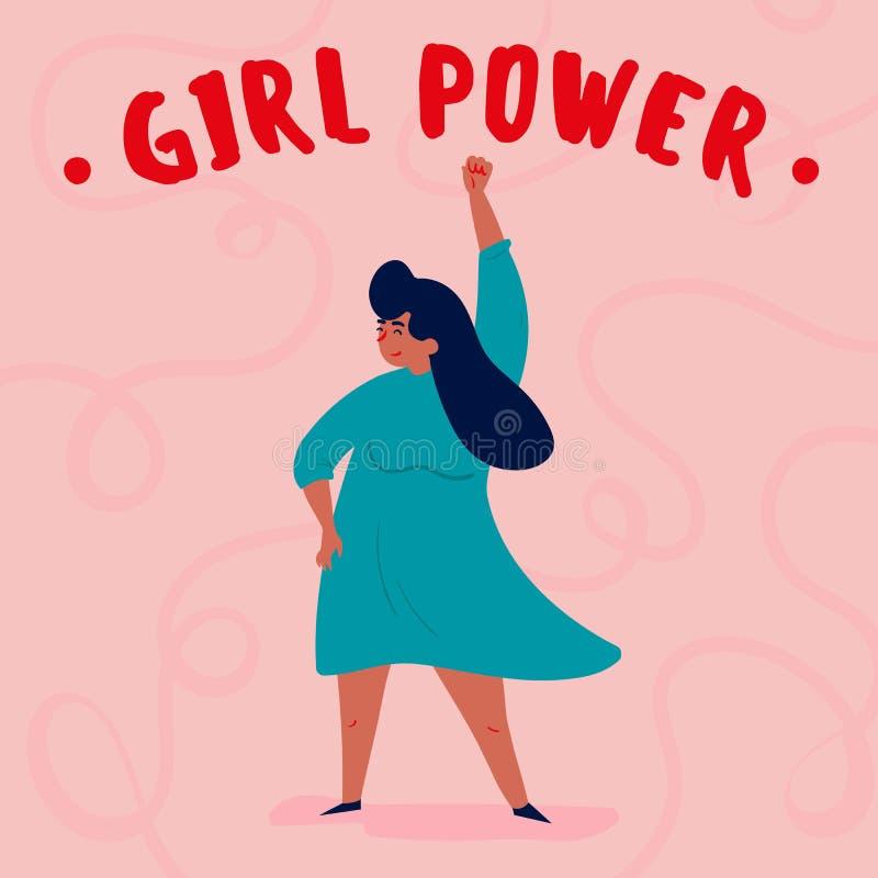 Poder de la muchacha Sola mujer autorizada fuerte libre illustration