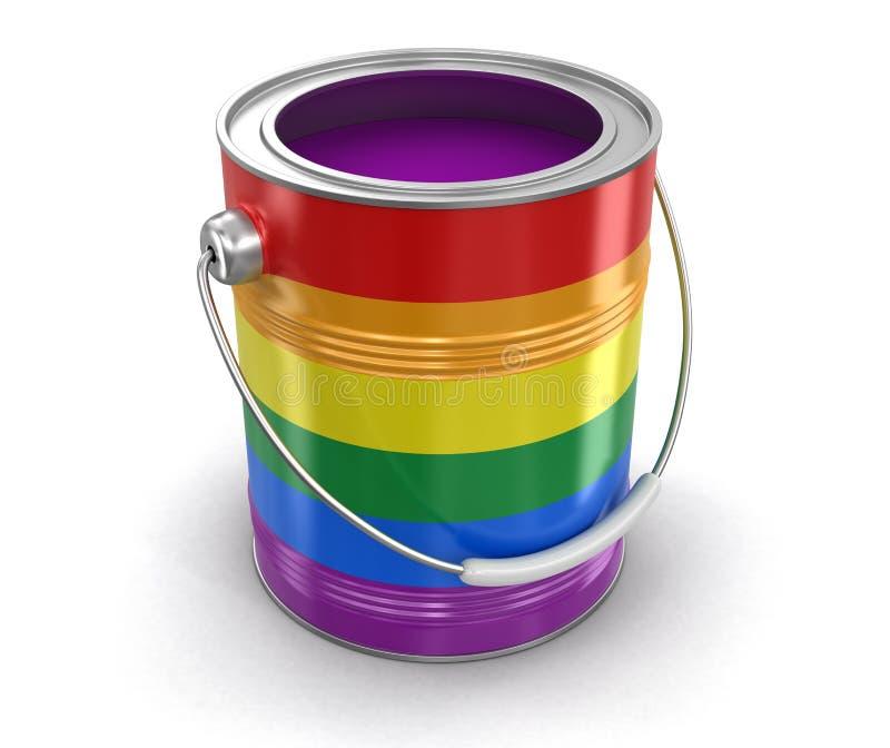 Poder de la pintura de LGBT ilustración del vector