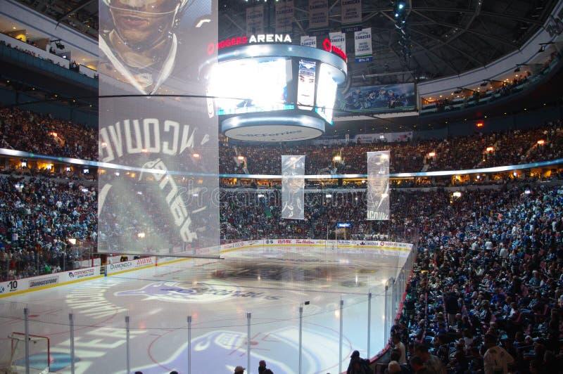 Poder de la toalla en el NHL foto de archivo
