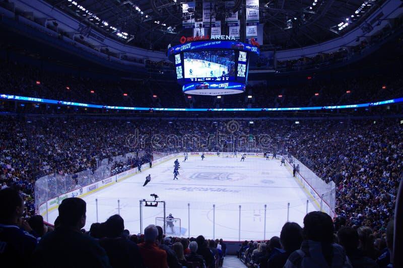 Poder de la toalla en el NHL fotografía de archivo