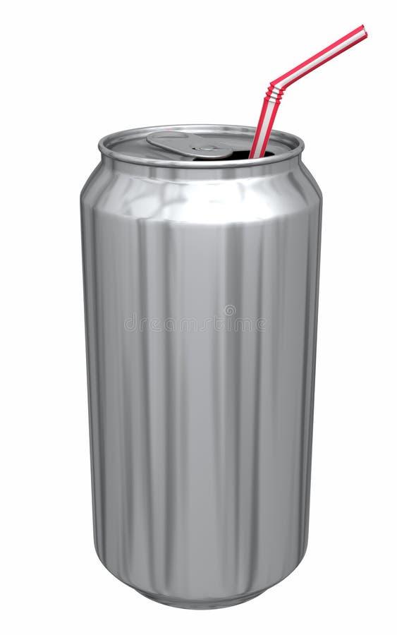 Poder de soda con la paja foto de archivo