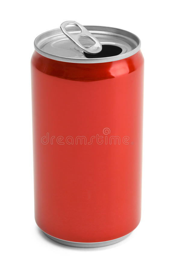 Poder de soda roja abierta imagen de archivo