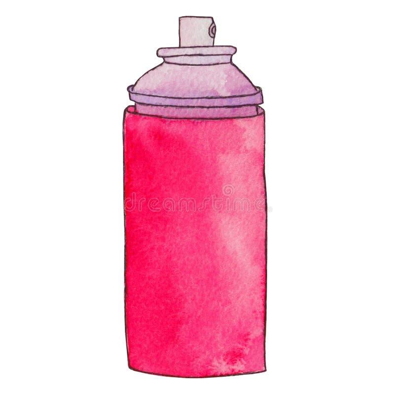 Poder del aerosol La pintura de espray puede o el espray del desodorante, laca Graf libre illustration